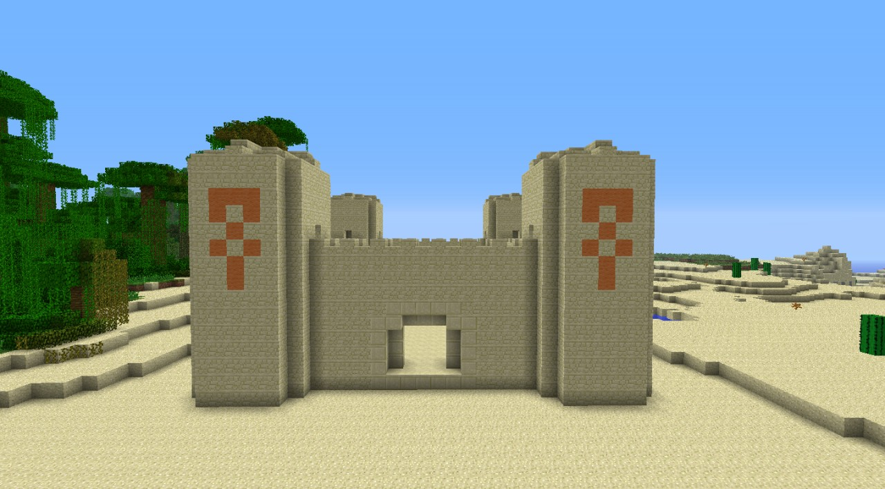 Sandstone Castle Unfurnished Minecraft Project