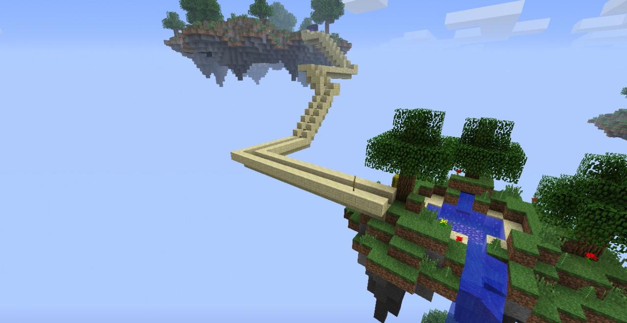 Bridge to the Portal Sky island
