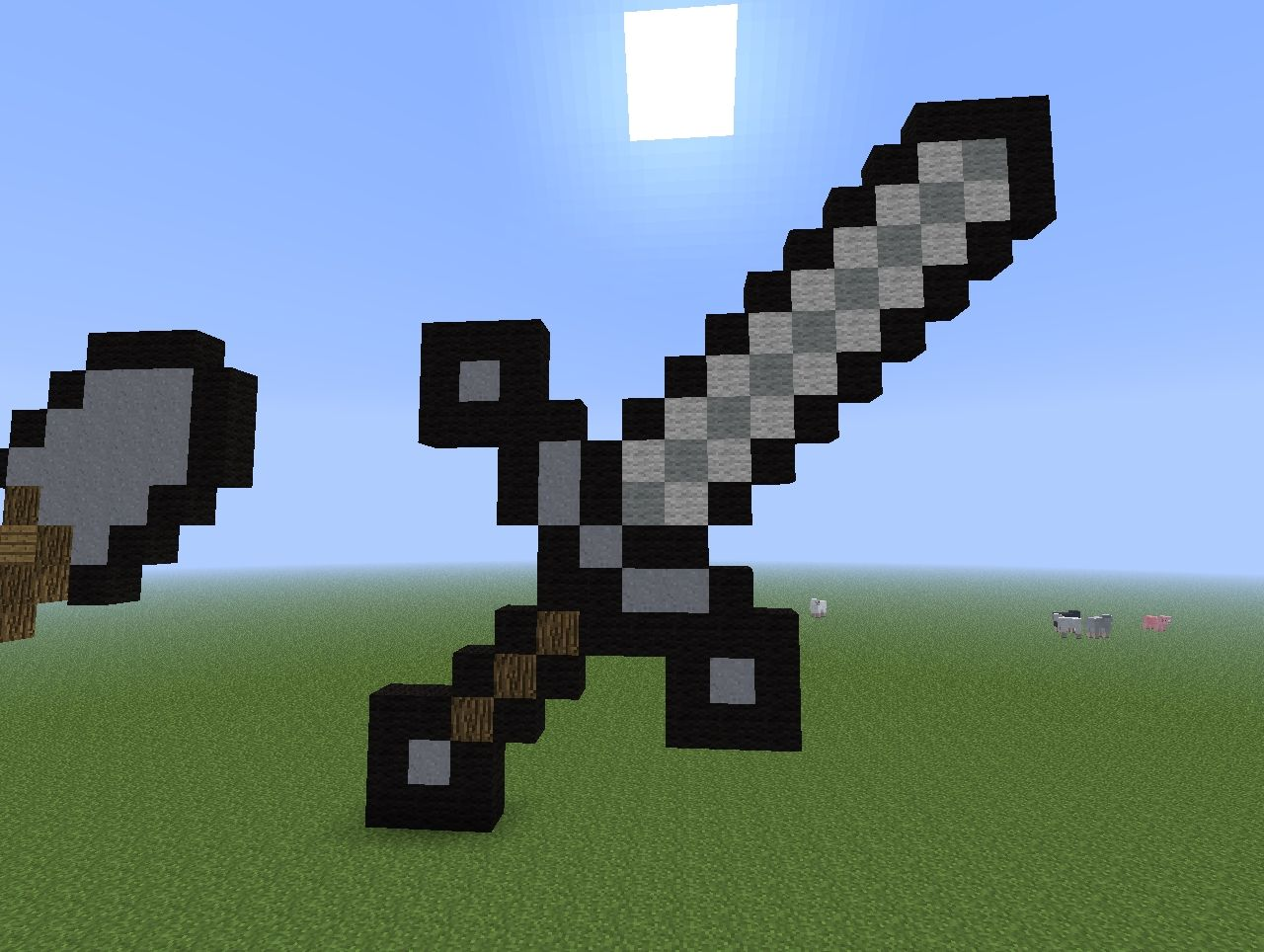 All Pixel Art Weapons and Tools + World Save Minecraft Project