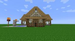 Modern Cabin Minecraft Map & Project