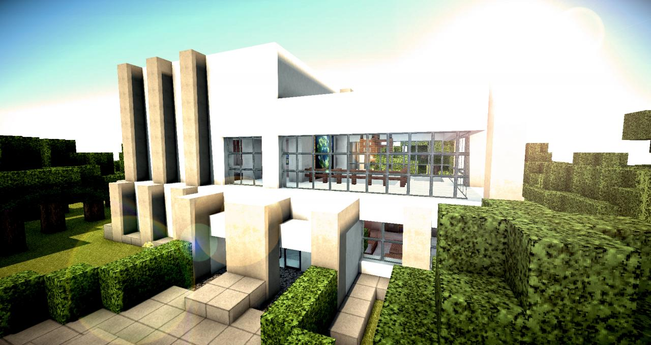 Modern vila minecraft project - Modern vila design ...
