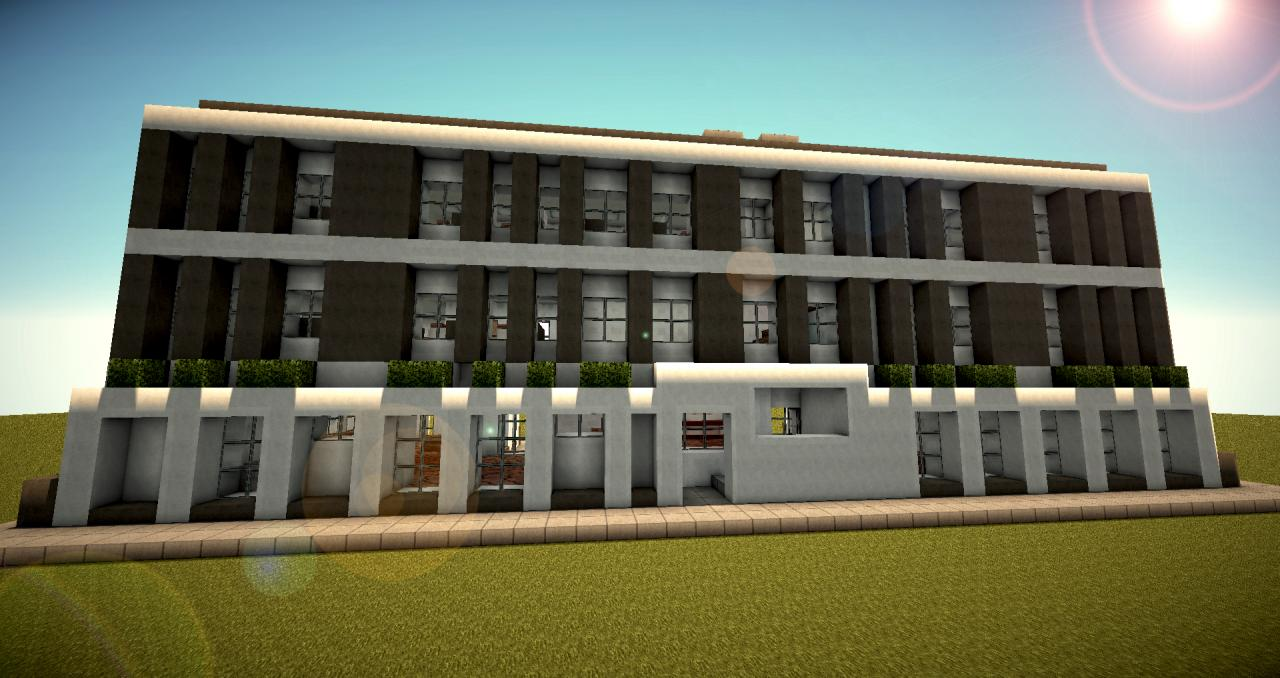 Modern Office Building Minecraft Project - Minecraft modern apartment building