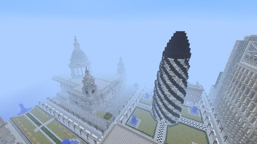 The Gherkin London Landmark Minecraft Project