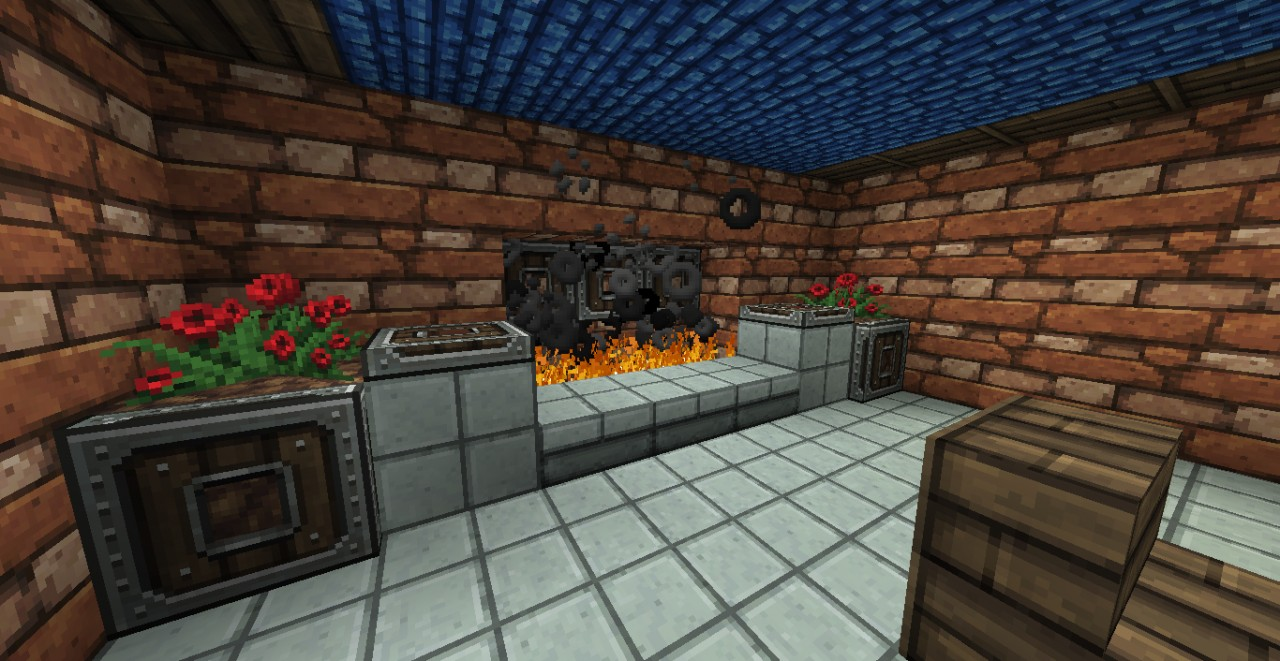 Fully decorated roman style house minecraft project for Fully decorated homes