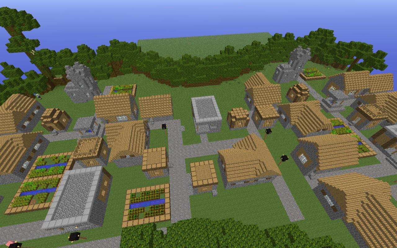 Massive npc village! (added in buildings) Minecraft Project