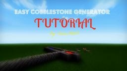 EASY Cobblestone Generator Tutorial (With pictures and world save)