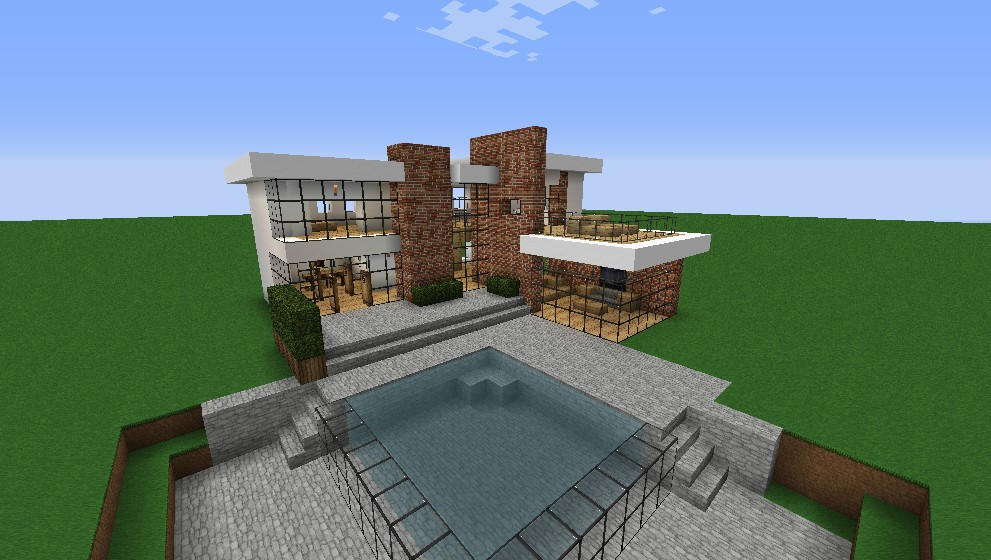 Modern looking house minecraft house modern for Minecraft big modern house tour