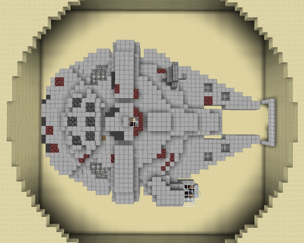 Millennium Falcon Minecraft Project on