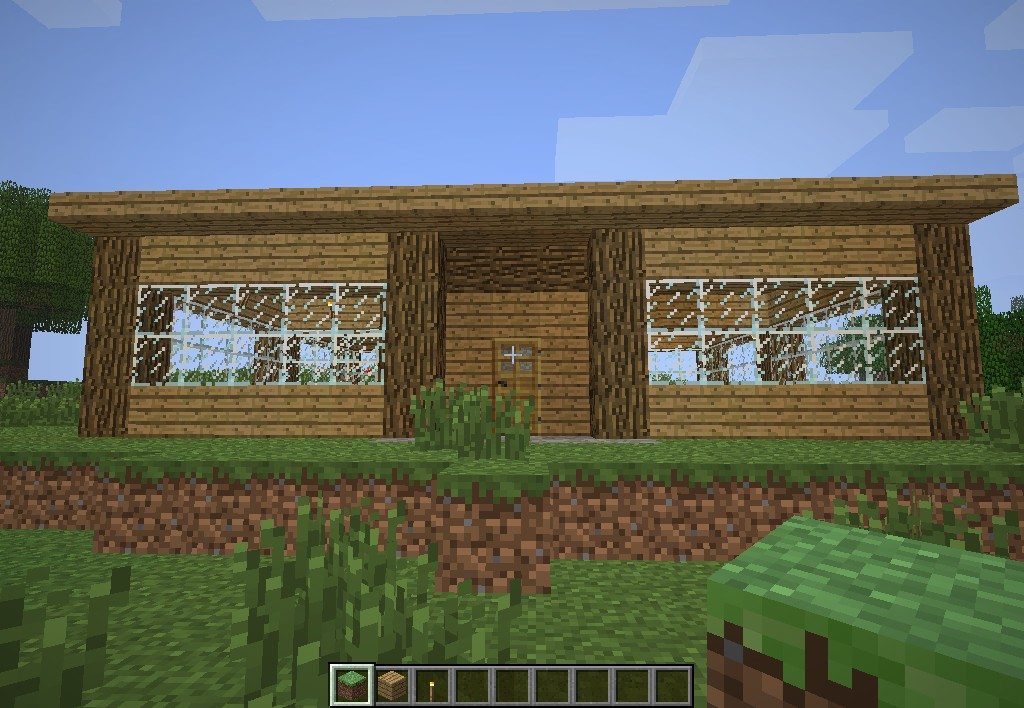 Modern Wooden House Minecraft Map
