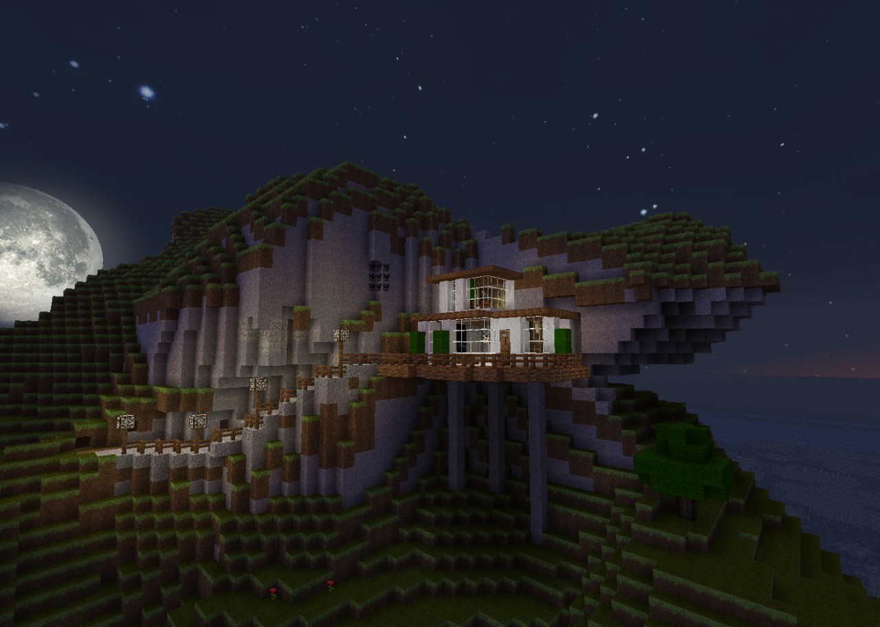 Mountain Side Home Minecraft Project