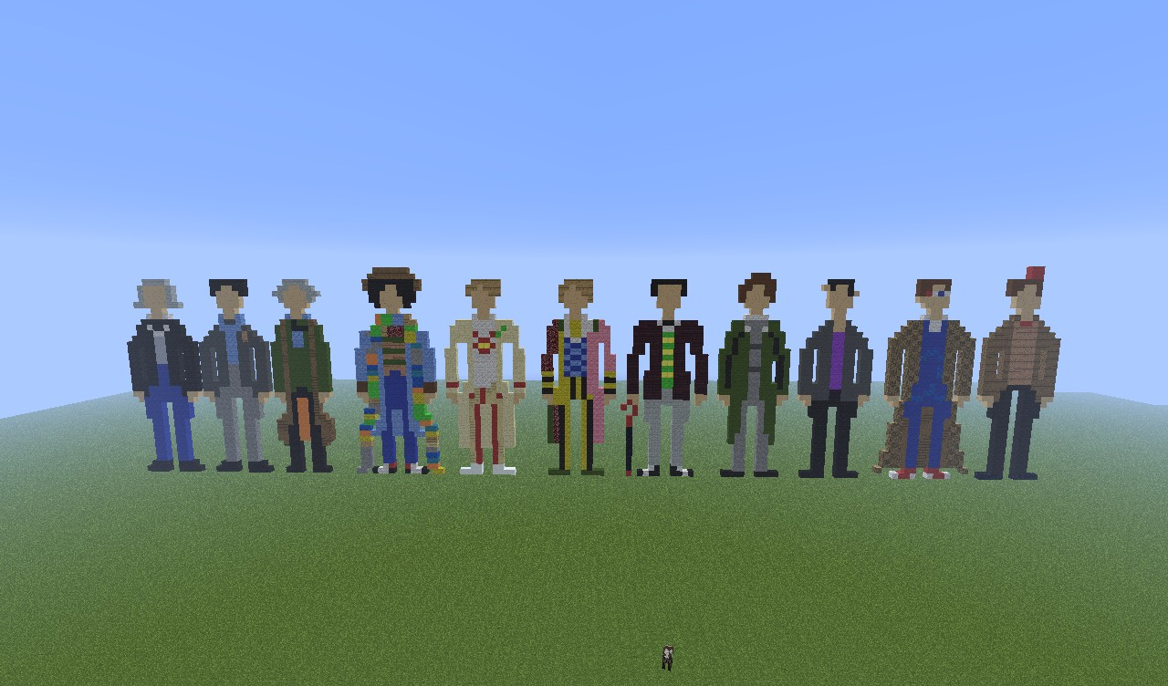 Pixel Every Doctor Doctor Who Minecraft Project