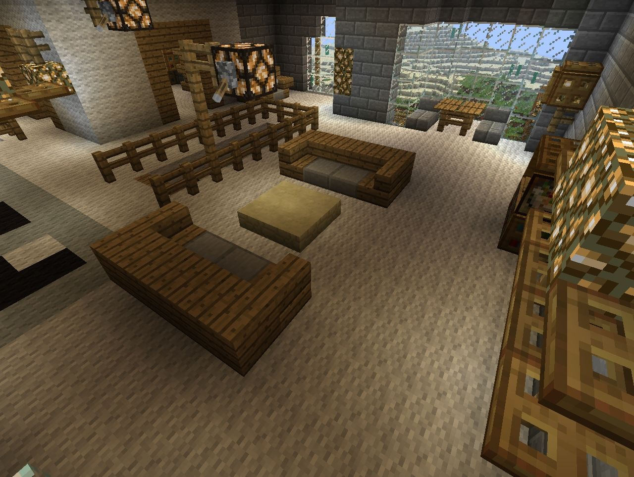 Modern Furniture Mansion Added Two More Guest Houses Minecraft Project