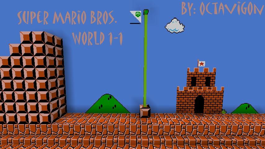 Super Mario Bros World Mapa Super Mario Bros World 1-1