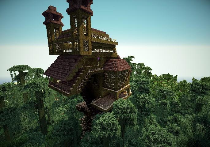 minecraft treehouse minecraft project