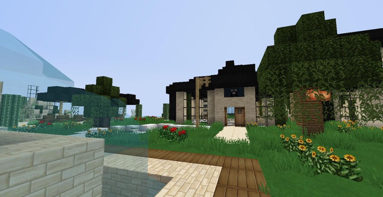 Luxury modern house for minecraft 1 3 1 part 2 minecraft for Modern house 5 part 2