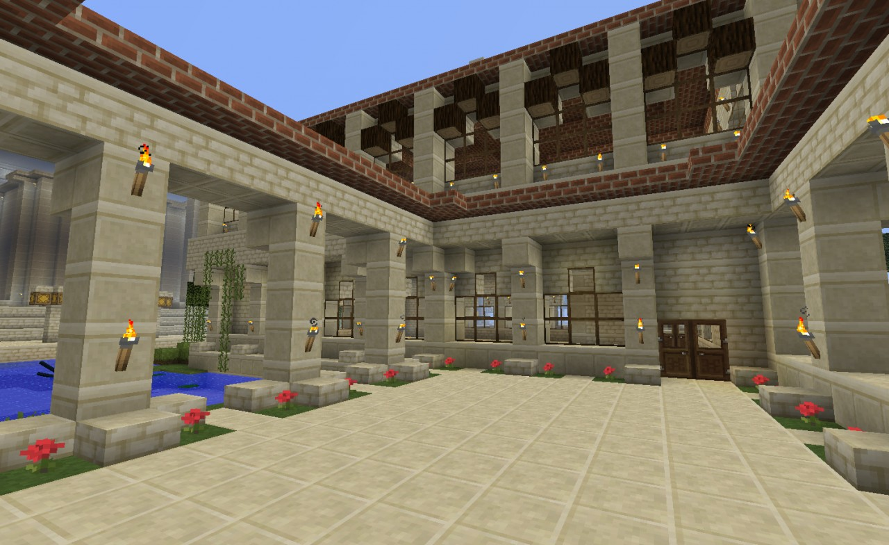 roman house style minecraft project. Black Bedroom Furniture Sets. Home Design Ideas