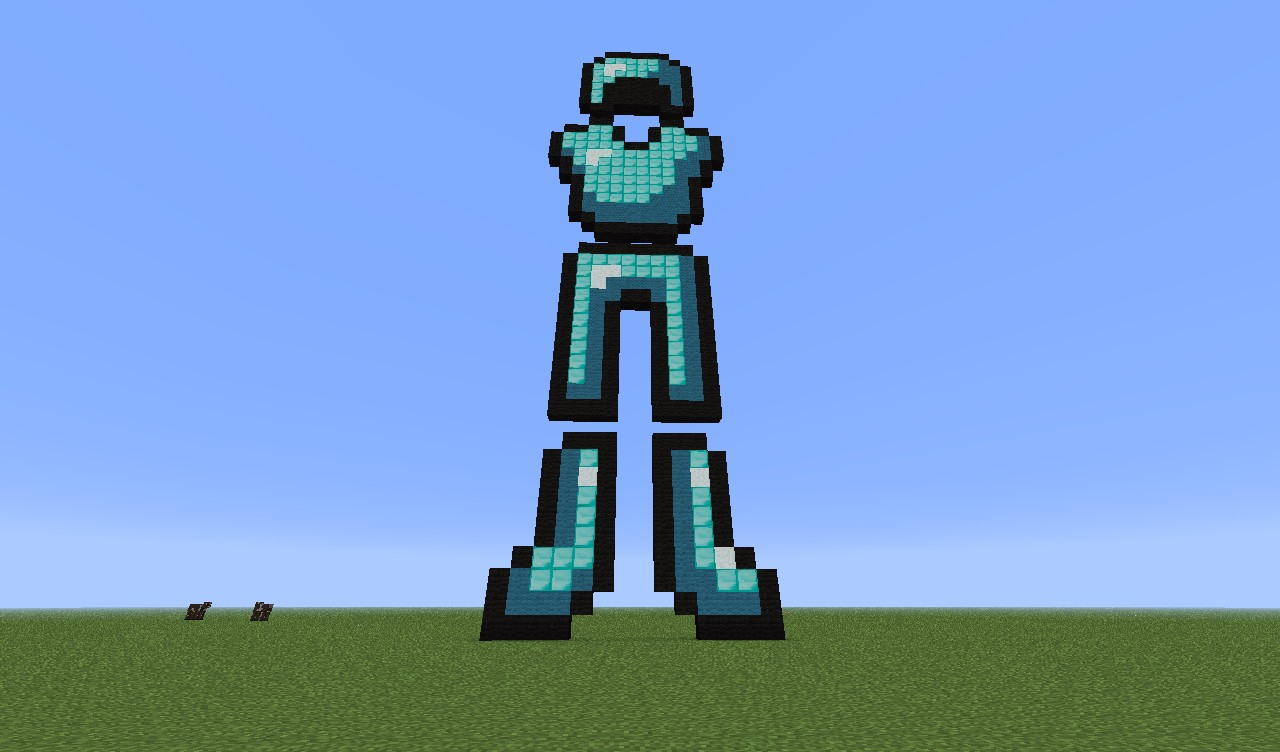 Pixel Art Diamond Armor Minecraft Project