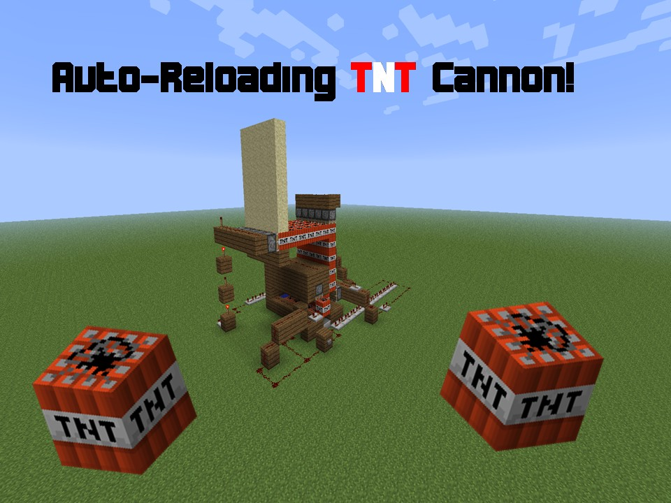 Auto-Reloading TNT cannon! - By.Sabo Minecraft Project