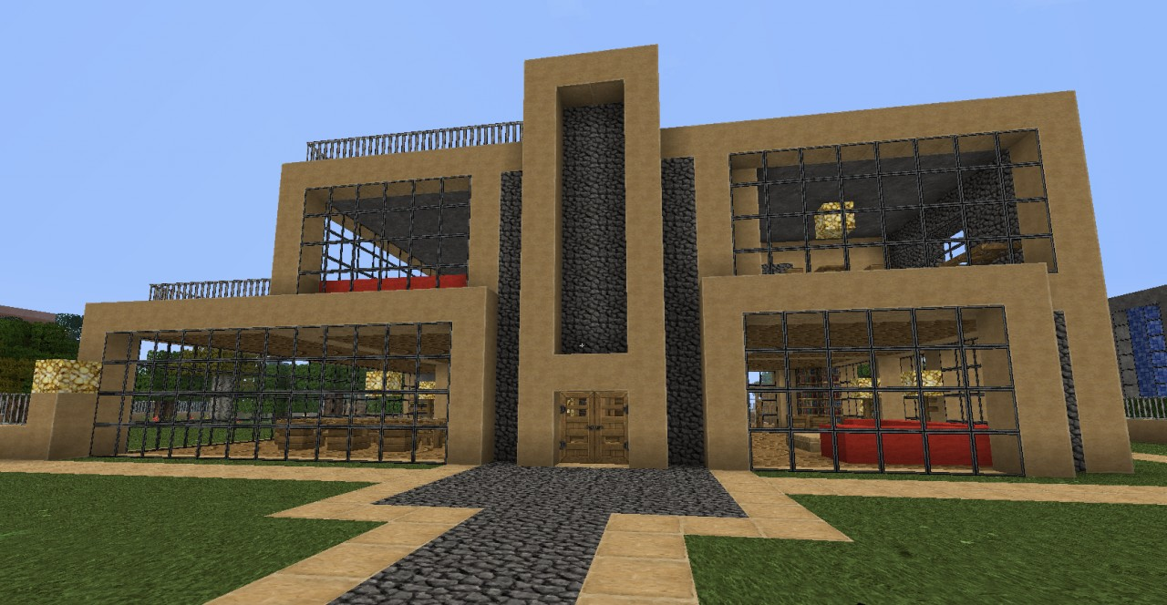 Modern house 2 menix house series minecraft project for Haus minecraft modern