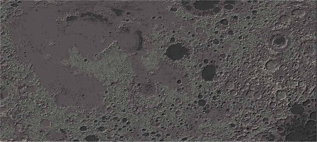 Map of Lunar Moon (18633x6499 blocks) Minecraft Project