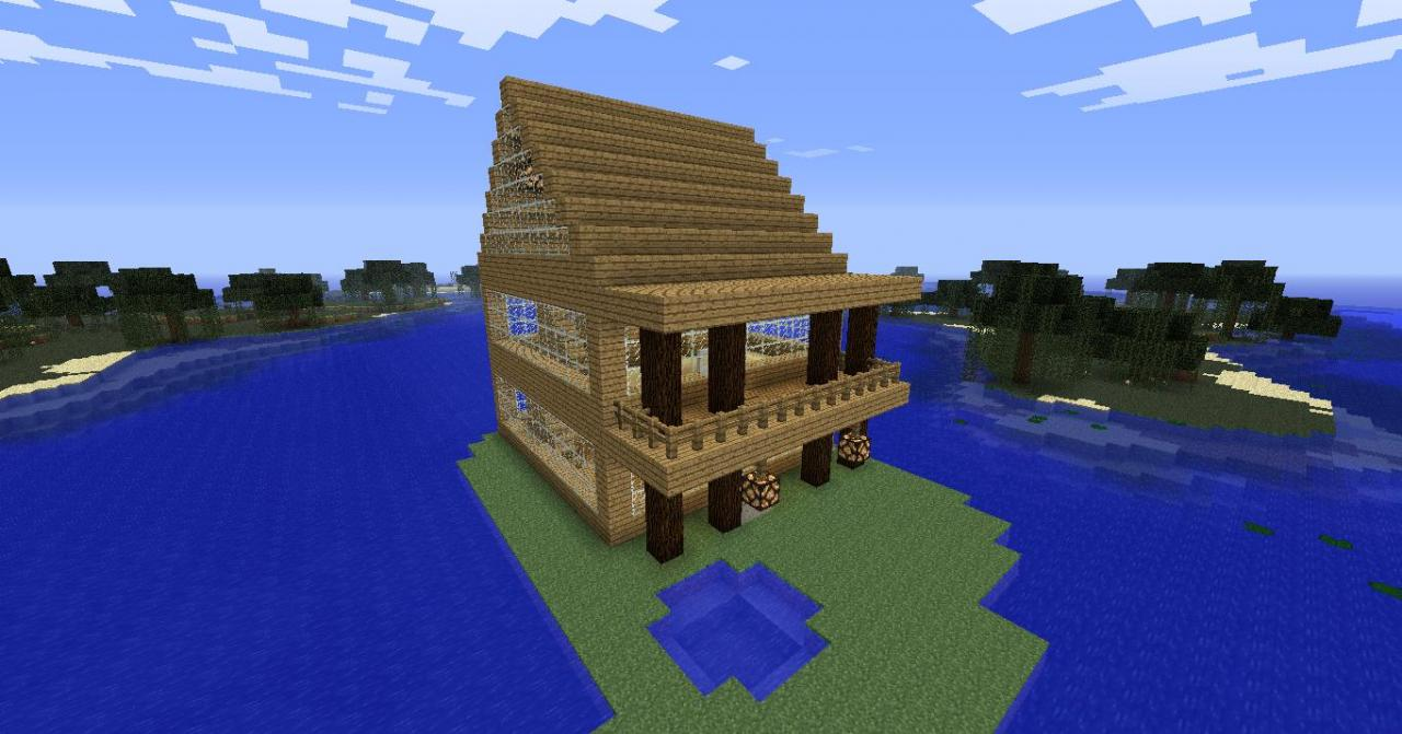 Island House Upstairs Is Urs To Design And Is Huge Diamond Pleez Minecraft Map