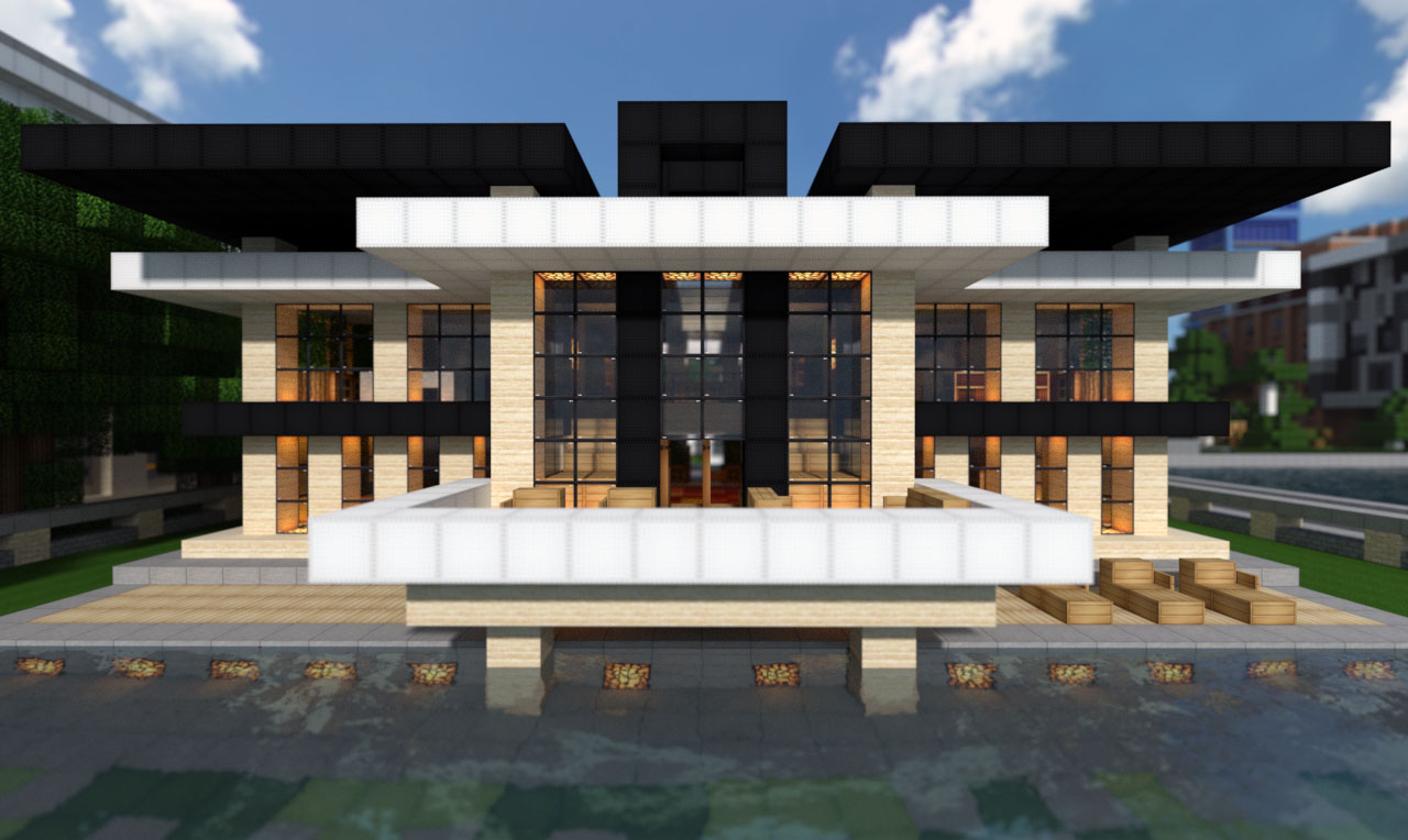 Modern mansion on world of keralis minecraft project for Modern house schematic