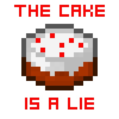 Pixel Art Of A Cake : TELL ME THE TRUTH AND DONT TELL ME LIES Minecraft Blog
