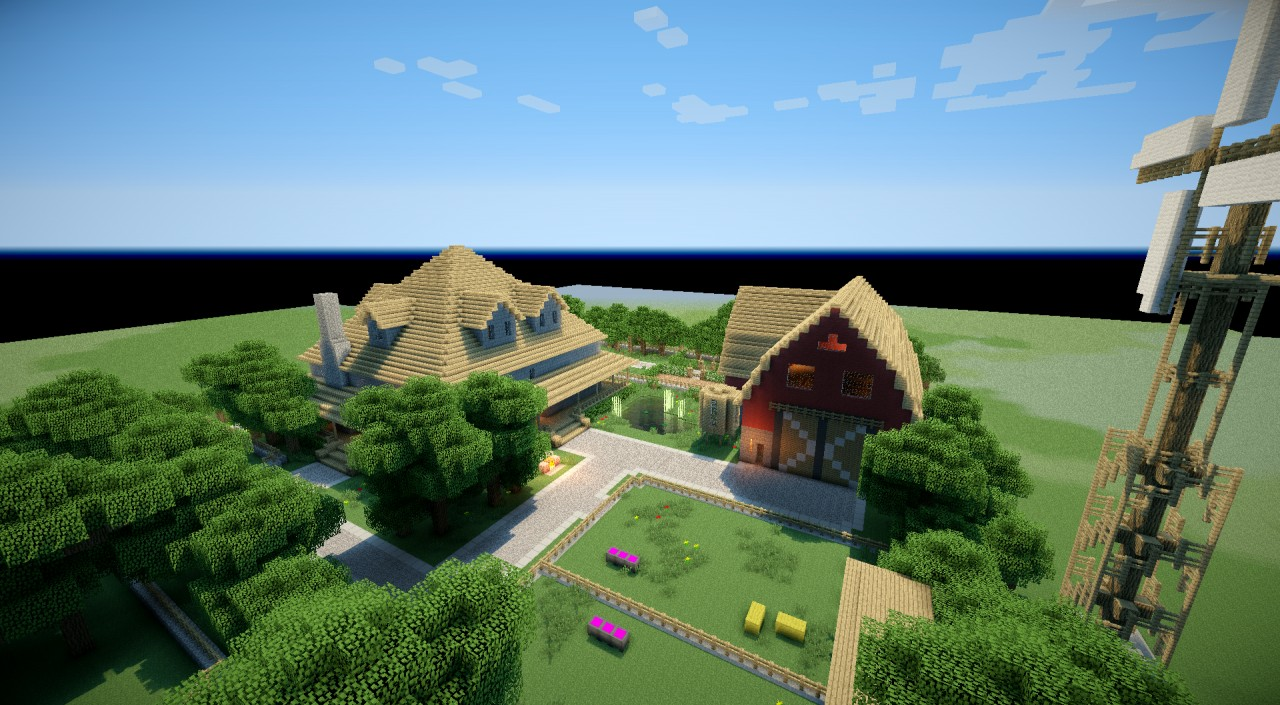 Epic Minecraft Houses Paradise Ranch Minecraft Project