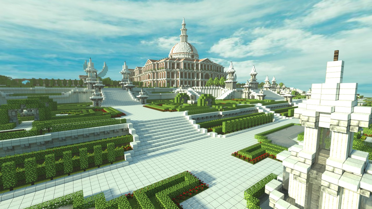 Giant Royal Palace Of Ferrodwynn Huge Medieval City With