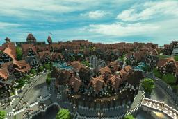 Ferrodwynn Towncenter (Huge medieval city) Download + Video Minecraft Map & Project