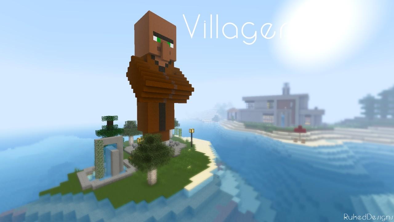 Villager Statue Schematic Minecraft Project