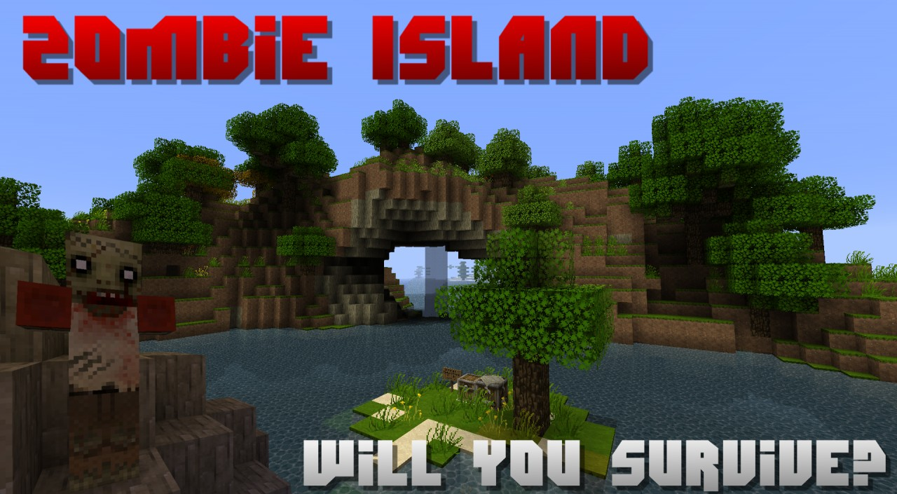 1.3 Zombie Island Survival Map [DOWNLOAD] Minecraft Project