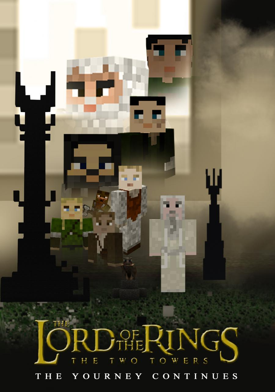 the two towers a minecraft poster minecraft blog