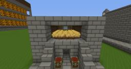Mini Wheat Farm with Harvester Minecraft Map & Project