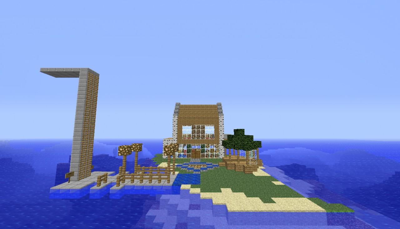 minecraft small island