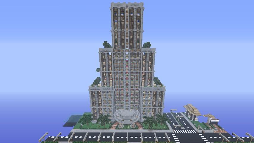 Modern Skyscraper Hotel Tropical Resort Please Diamond To