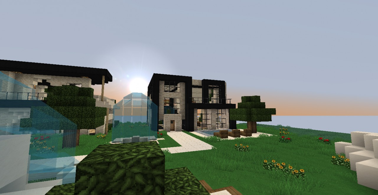 Luxury modern house for minecraft 1 3 1 part 3 minecraft for Minecraft modern house 9minecraft