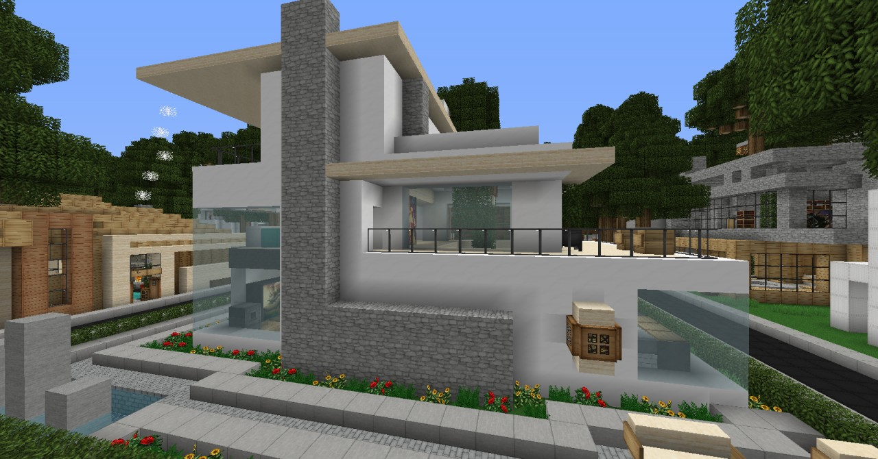 Ice and Snow Modern Home Minecraft - 199.3KB