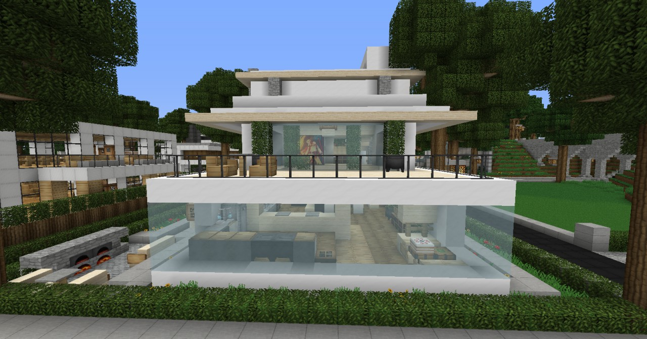 Ice and Snow Modern Home Minecraft - 216.2KB