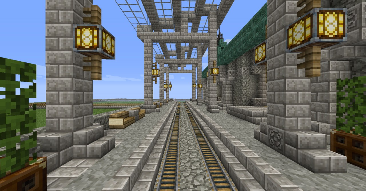 how to make train tracks in minecraft