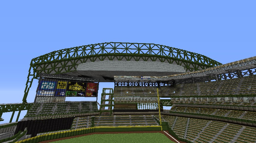 Safeco field minecraft project non ugly roof underside update malvernweather Image collections