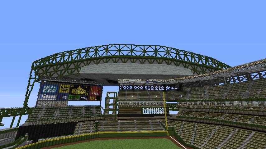 Baseball Stadium - Safeco Field Minecraft Project