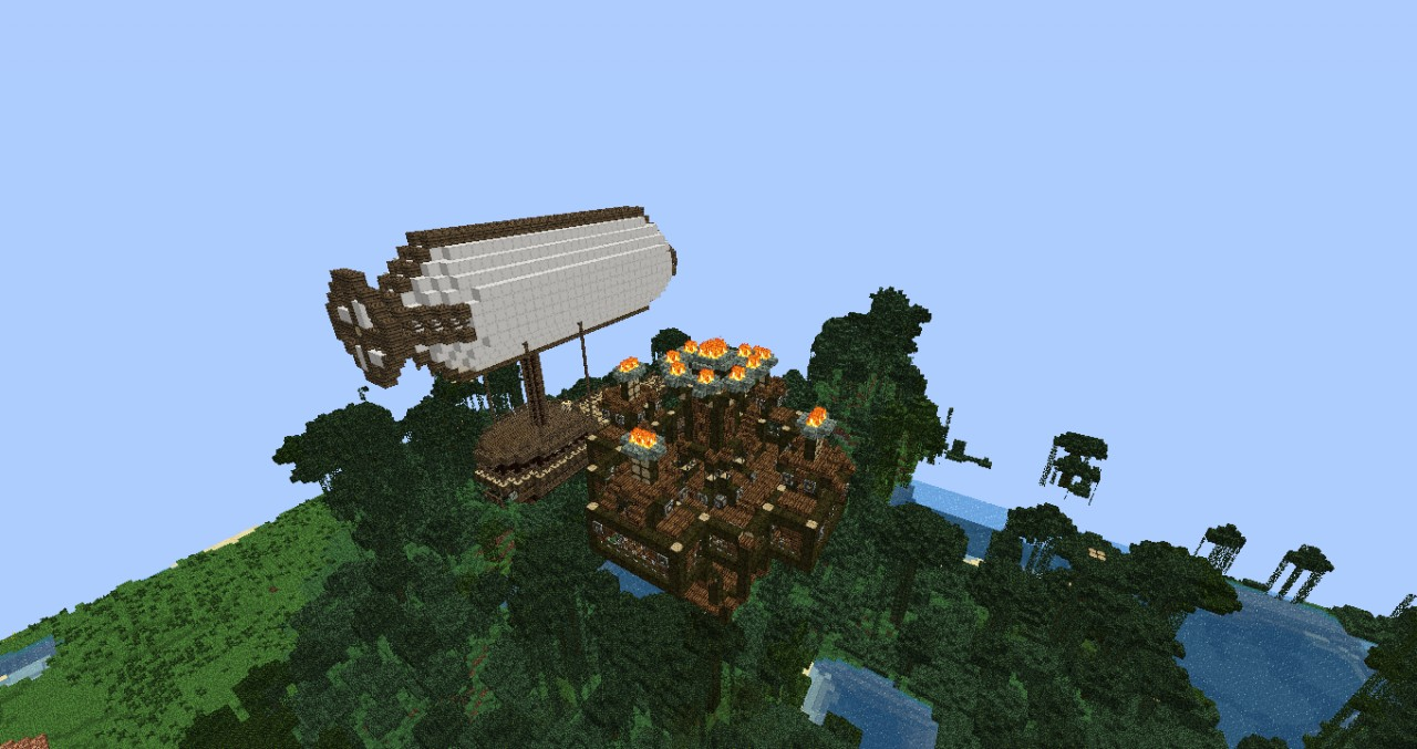 Tree House with an Airship