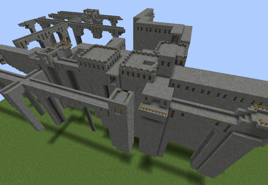 Stonebrick nether fortress minecraft project for Fortress build