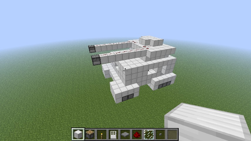 how to make a working tank in minecraft