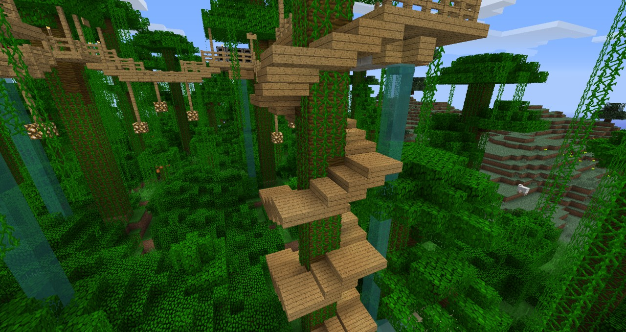 minecraft how to build treehouse