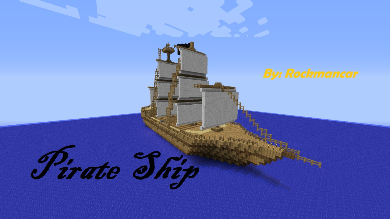 Wooden Pirate Ship Minecraft Project