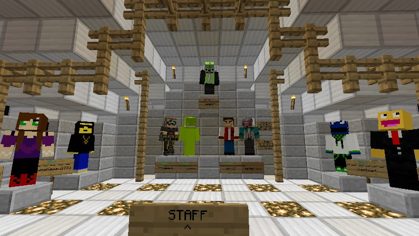 Staff! Top is me, Bottom Middle is admins, sides are Mods.