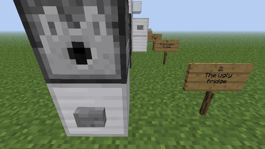 Easy and Useful, Bathroom and Refrigerator Minecraft Project