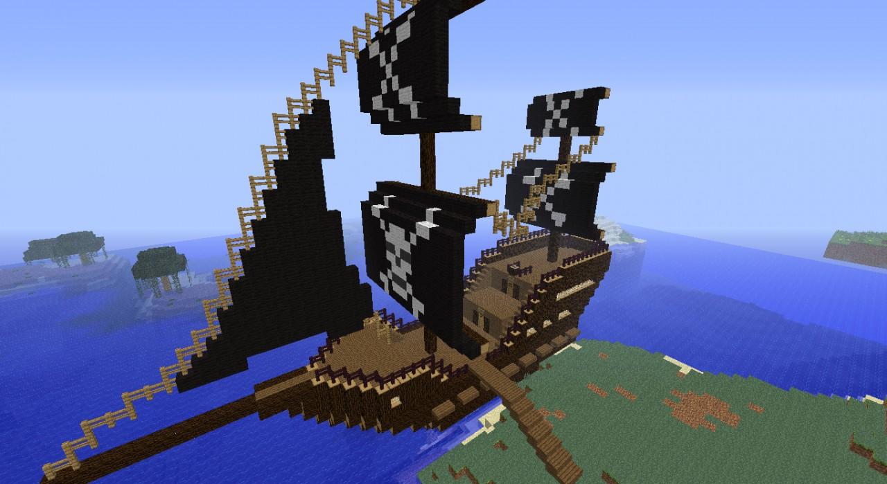 майнкрафт 0.13.1 карта пиратский корабль #3